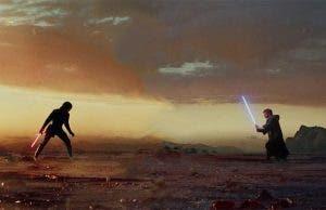 Kylo Ren vs Luke ne Star Wars: Los Últimos Jedi (2018)