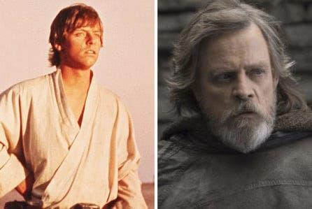 Mark Hamill fue Luke Skywalker en Star Wars: Los Últimos Jedi