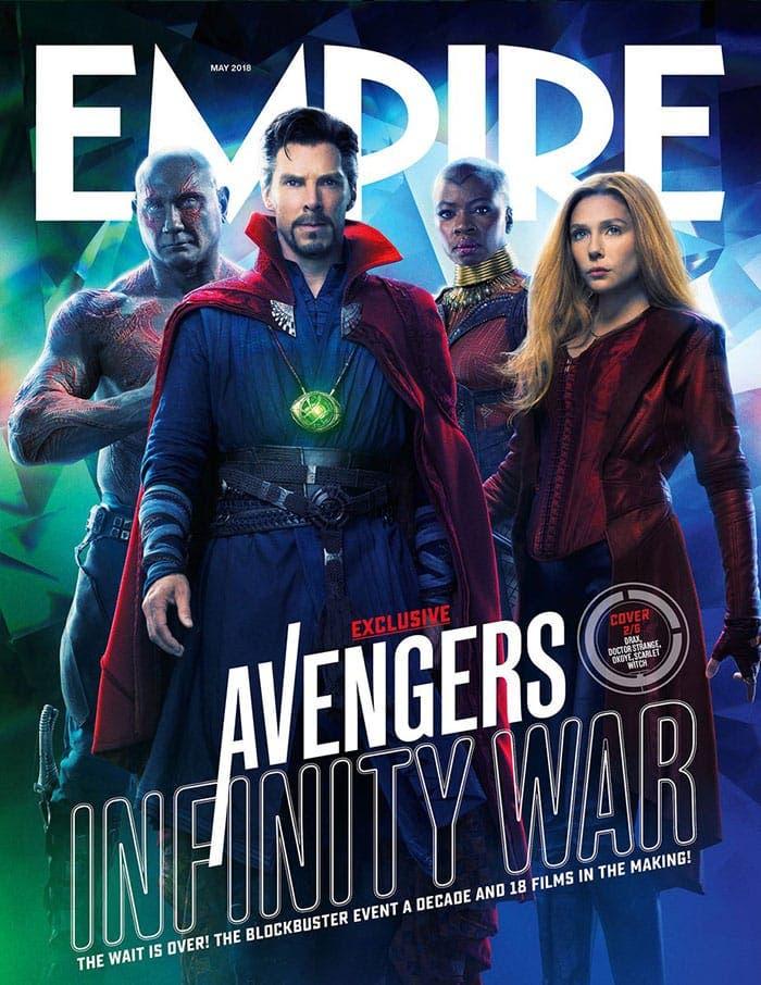 Elizabeth Olsen, muy cabreada por las portadas de Empire de Vengadores: Infinity War (2018) que le deformaron la cara