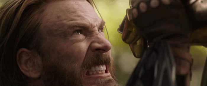 Capitán América para el golpe de Thanos en el tráiler de Vengadores: Infinity War (2018)