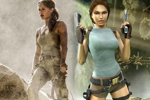 tomb raider actriz vs videojuego