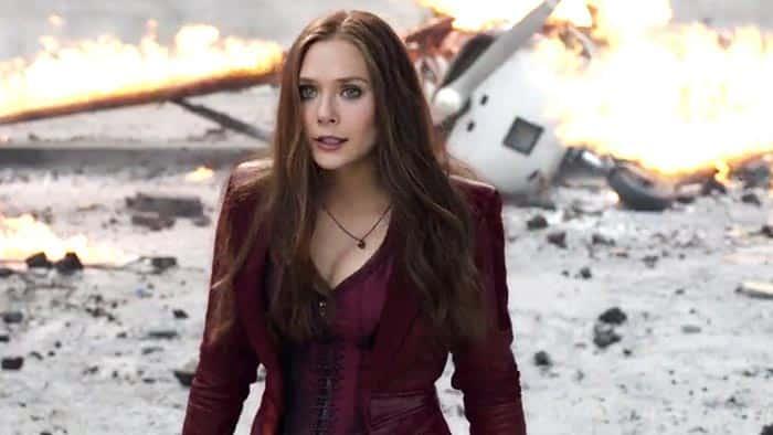 El traje de Elizabeth Olsen en Capitán América: Civil War (2016)