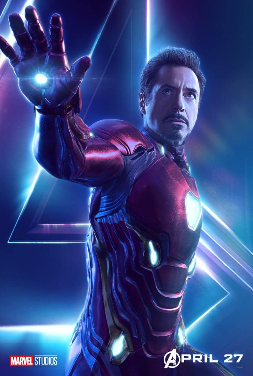Robert Downey Jr. Como Iron man en Vengadores: Infinity War