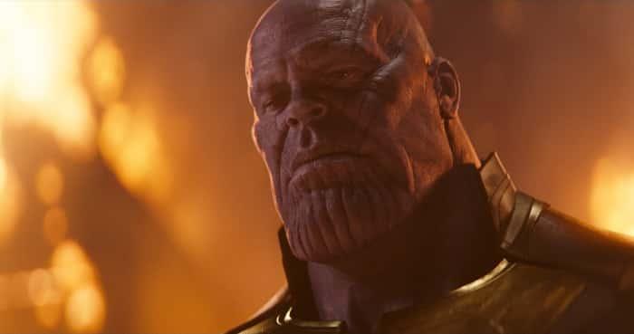 Fotograma de Vengadores: Infinity war con Thanos