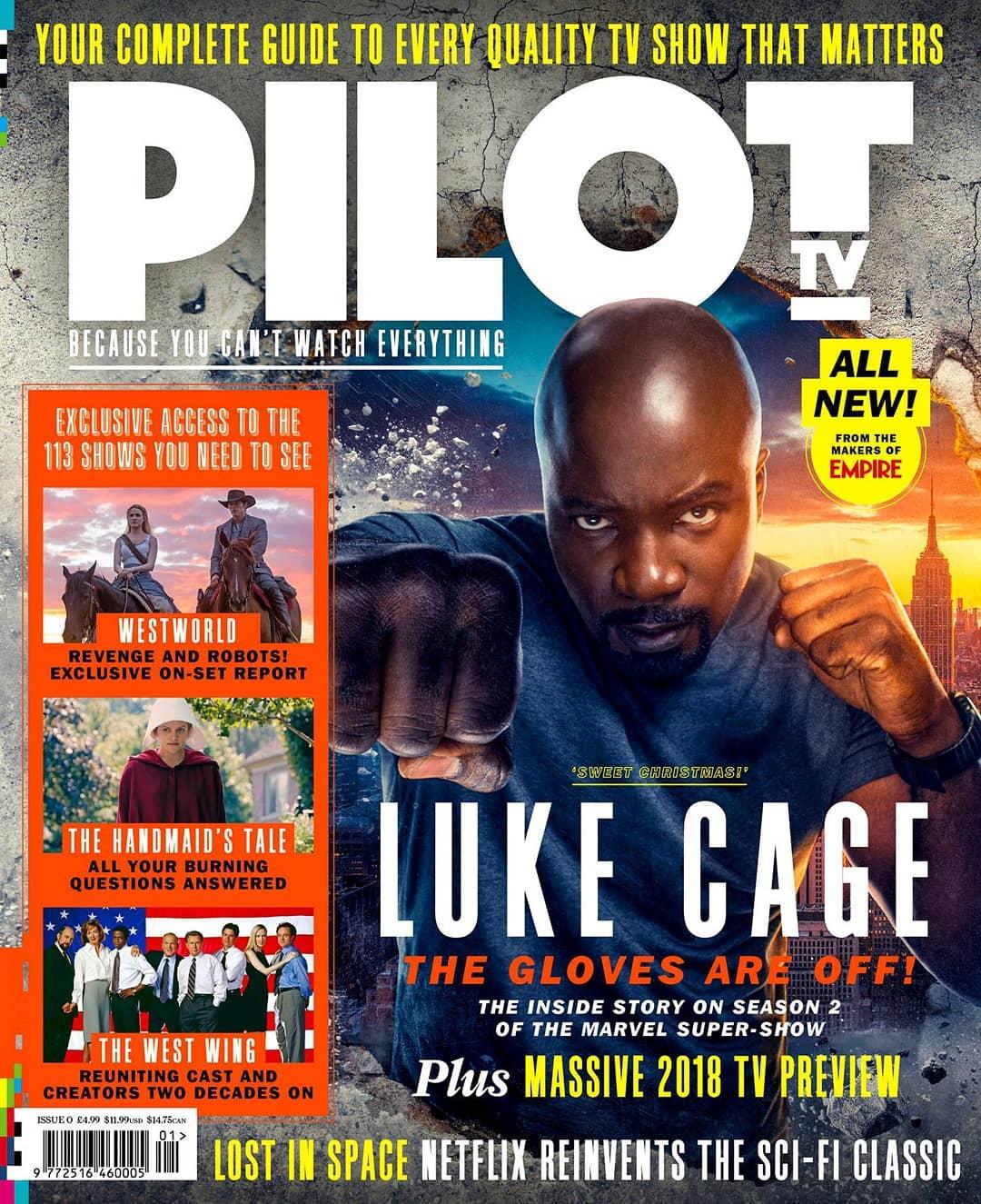 Luke Cage protagoniza la portade de Pilot TV