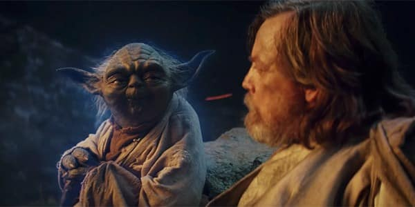 Star Wars: Los últimos Jedi Yoda junto a Luke Skywalker