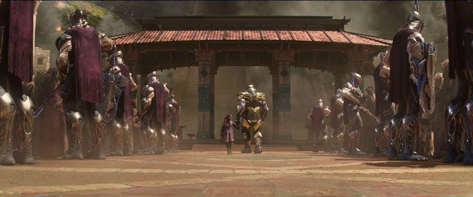 Thanos y Gamora