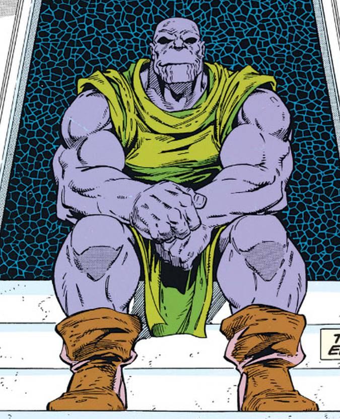 Thanos granjero al final de Vengadores: Infinity War