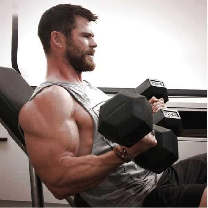Chris Hemsworth entrenando para Vengadores: Infinity War y Vengadores 4
