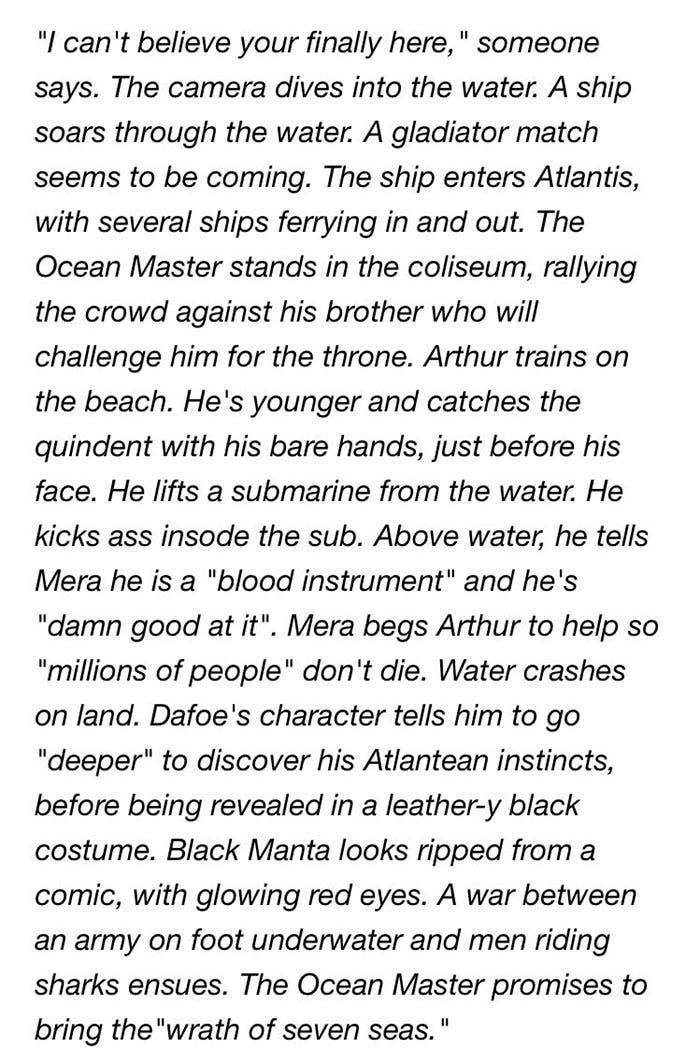 Descripción de las impresiones de Aquaman