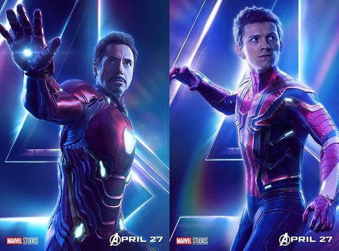 Los trajes de Iron Man y Spider-Man en Vengadores: Infinity War