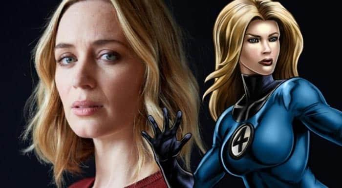 Emily Blunt podría ser la Mujer Invisible en los 4 Fantásticos de Marvel Studios (MCU)