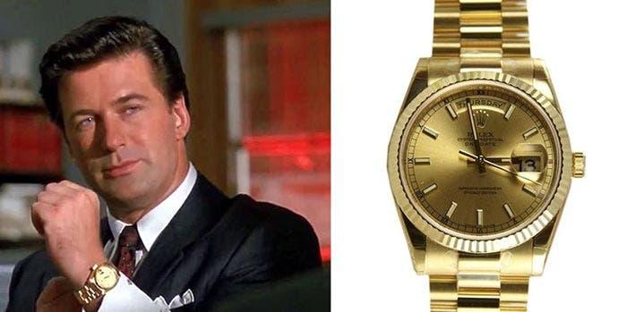 'Éxito a cualquier precio' (Rolex Daydate) | Los 5 relojes más legendarios de la historia del cine