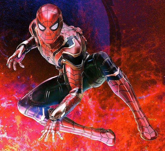El traje Iron Spider de Spider-Man en Vengadores: Infinity War (2018)