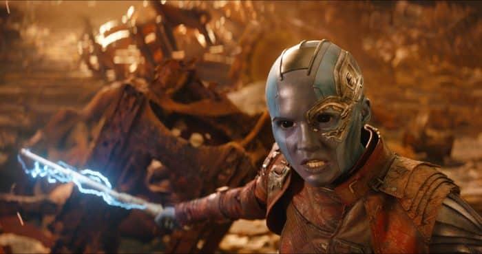 nebula Vengadores: infinity war de Marvel