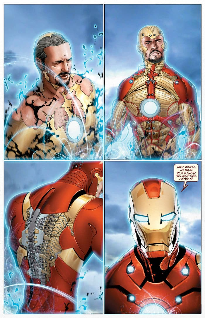 nueva armadura de Iron Man en Infinity War