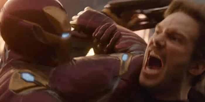 La pelea entre Iron Man y Star-Lord en Vengadores: Infinity War (2018)