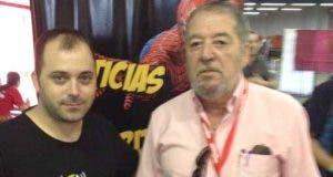 Carlos Gallego junto a Pepe Mediavilla en la CIFICOM de Madrid