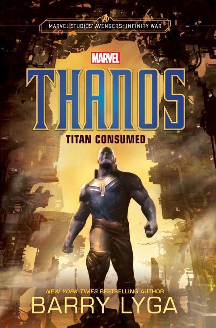La portada de la novela Thanos: Titan Consumed, precuela de Vengadores: Infinity War