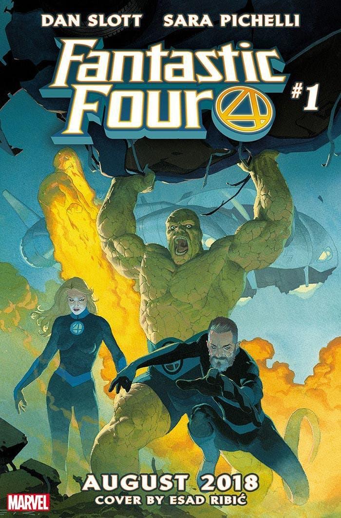 La portada del número 1 del regreso de Los 4 Fantásticos en Marvel Comics