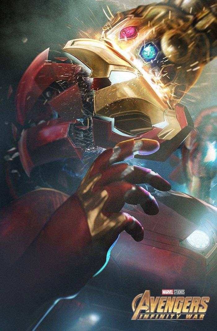 La muerte de Iron Man en un póster fan art de Vengadores: Infinity War (2018) | Marvel Studios
