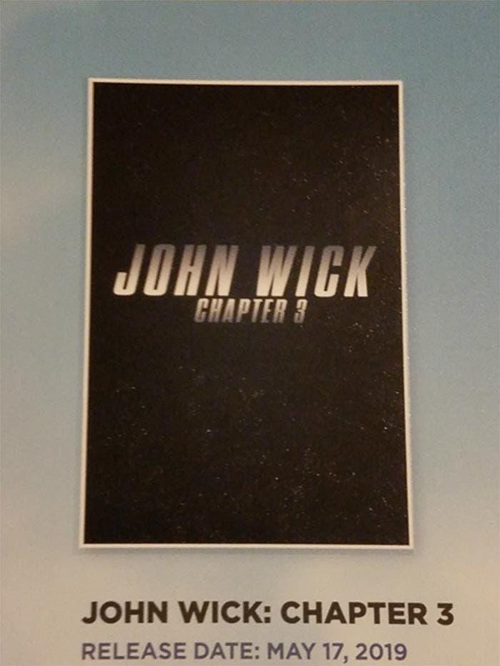 Primer póster de John Wick 3