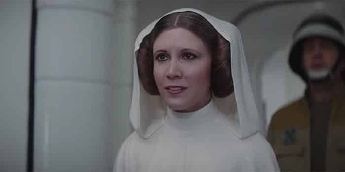La Princesa Leia en Rogue One: Una historia de Star Wars