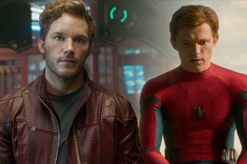 Star Lord y Spider-Man en Vengadores: Infinity War