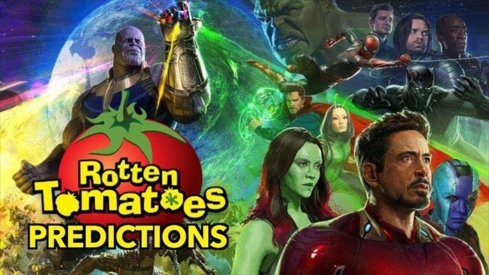 Las notas de Vengadores: Infinity War en Rotten Tomatoes