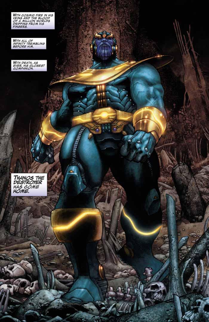 viñeta de Thanos. origen