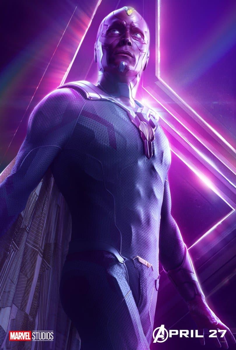 Paul Bettany es Vision en Vengadores: Infinity War