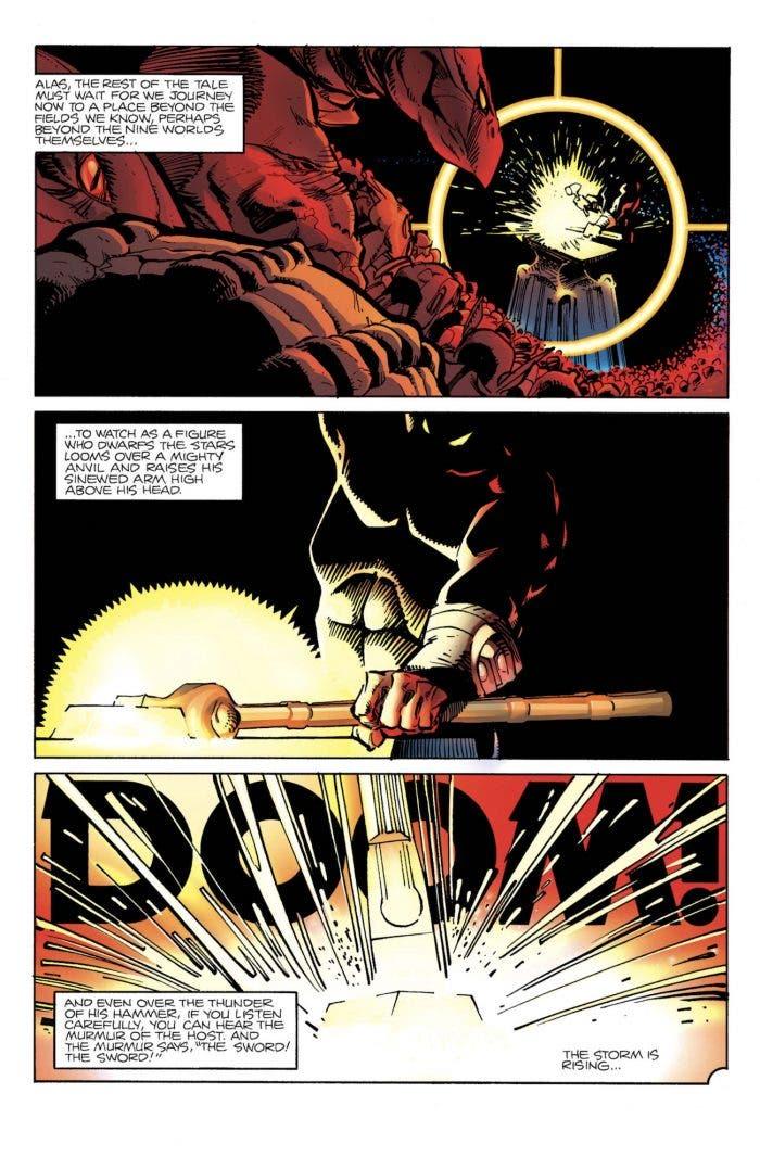 Forja en los cómics de Stormbreaker