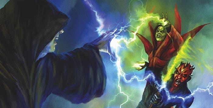 Darth Sidious contra Darth Maul y Madre Talzin