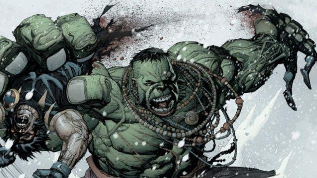 hulk parte por la mitad a wolverine
