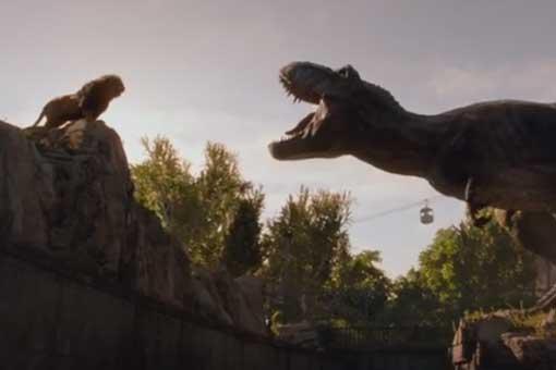 El T-Rex vs un león en el nuevo spot de 'Jurassic World: El reino caído'