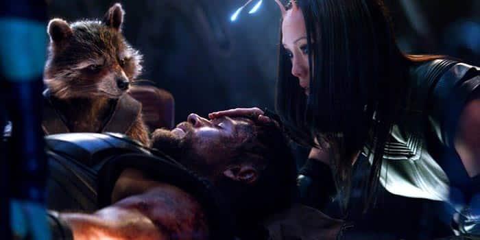 Mantis, Thor y Rocket en Vengadores: Infinity War