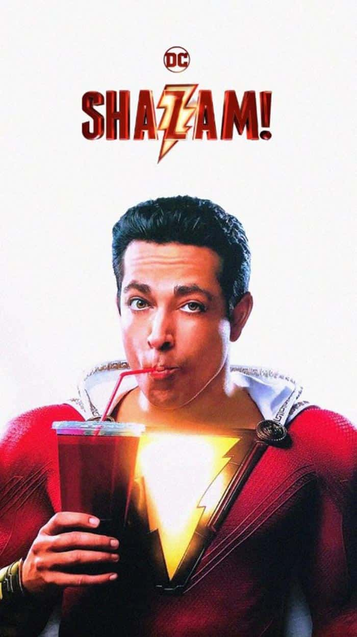 Póster fan made de Shazam con Zachary Levi