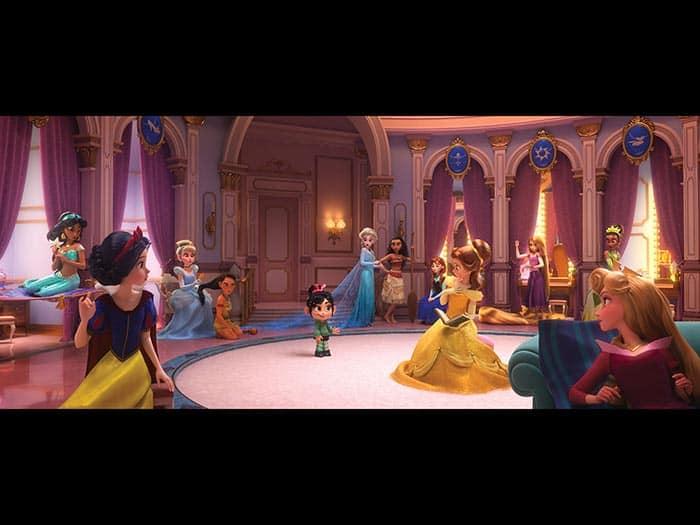 Las princesas Disney en Rompe Ralph 2 (Ralph rompe Internet)
