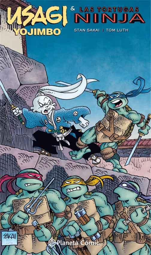Portada Usagi Yojimbo y Las tortugas Ninja