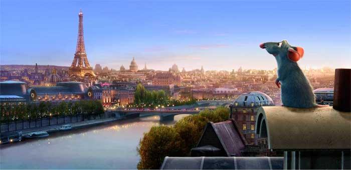 Ratatouille de Pixar Studios fue dirigida por Brad Bird.