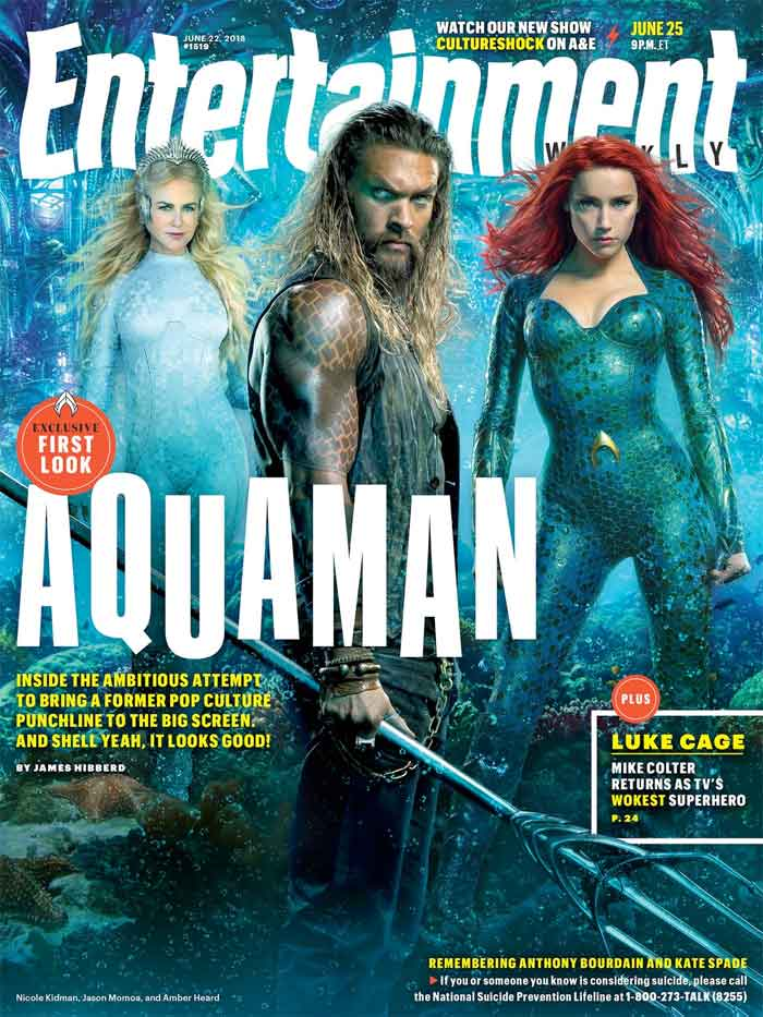 Primer vistazo a Nicole Kidman como la reina Atlanna en Aquaman.