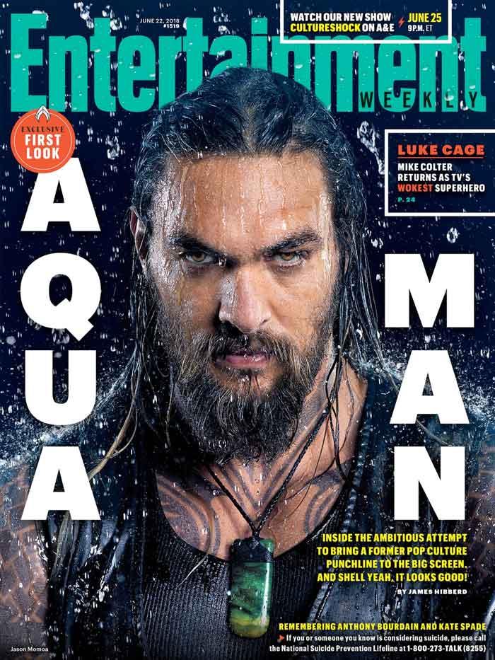 Jason Momoa interpreta a Arthur Curry/Aquaman en la nueva película del DCEU