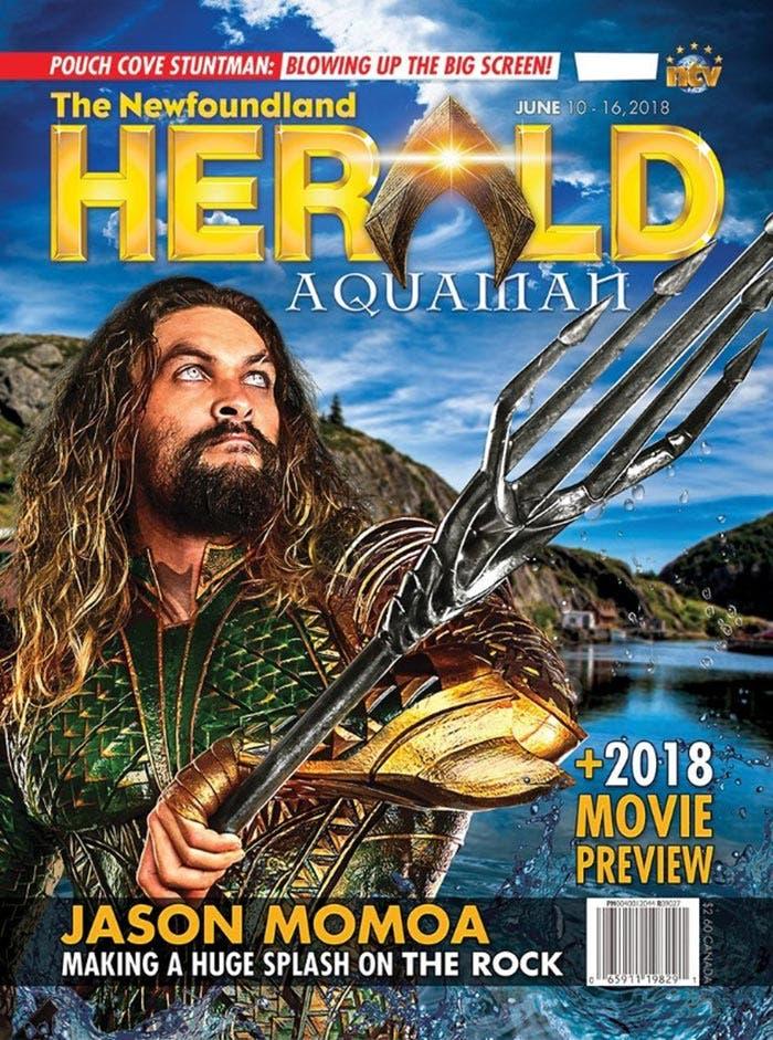 Aquaman en una revista canadiense