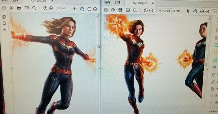Arte conceptual de Vengadores 4 (2019) con Capitana Marvel