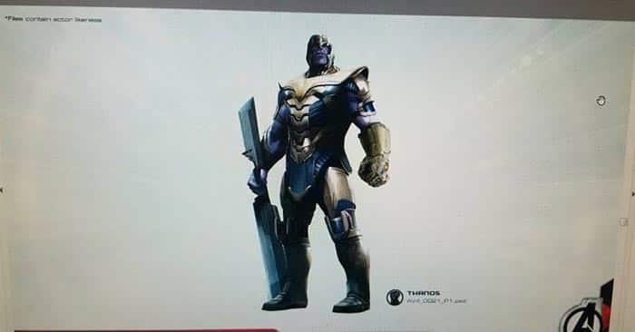 Arte conceptual de Vengadores 4 (2019) con Thanos