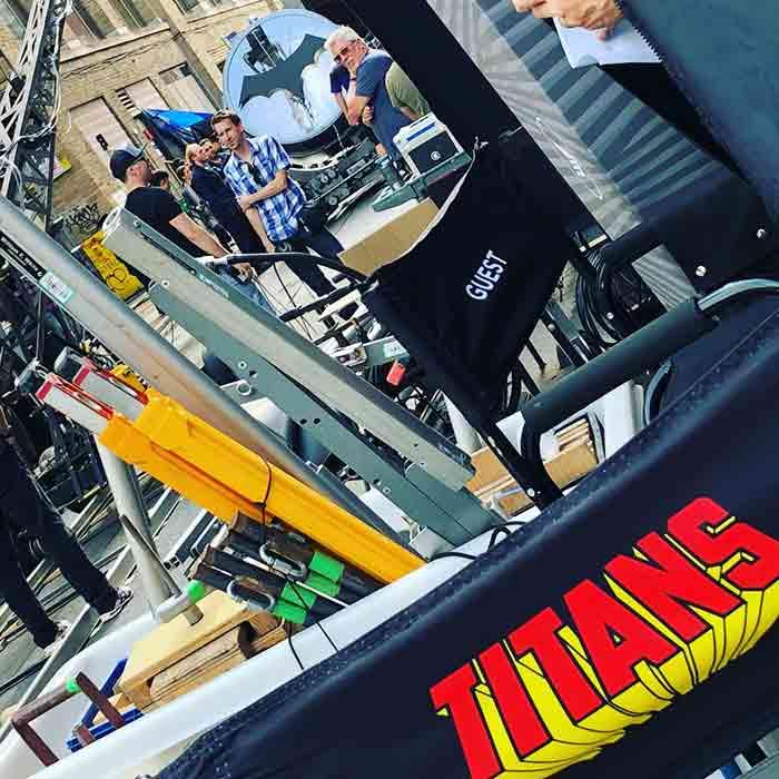 La Batseñal en la serie Titans (DC Comics)