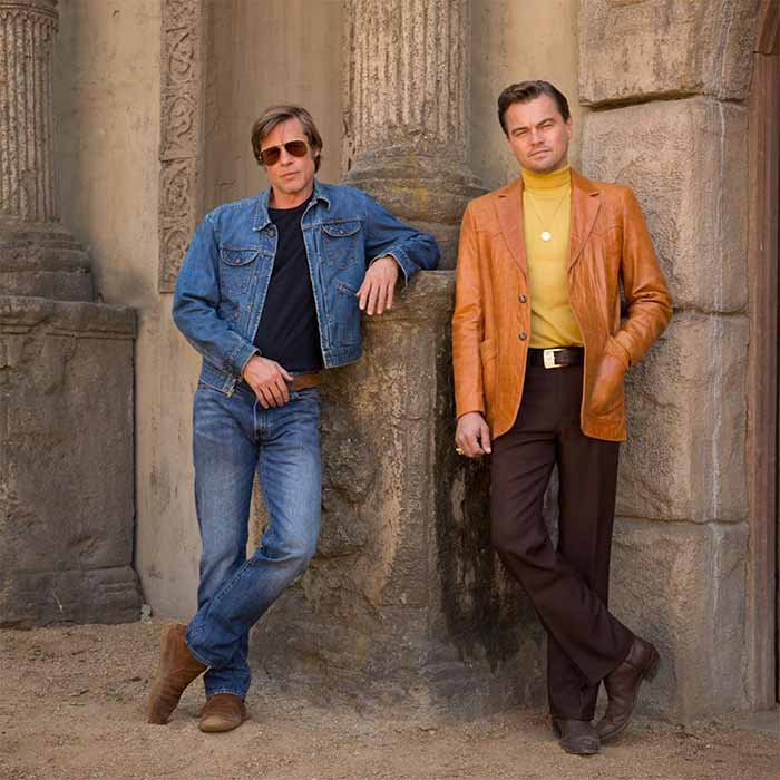 Brad Pitt y Leonardo DiCaprio en Once Upon a Time in Hollywood (Quentin Tarantino)