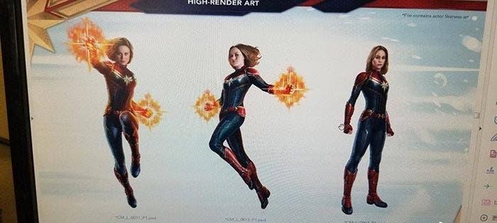 Capitana Marvel volando