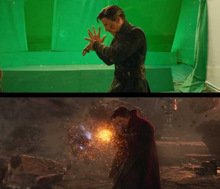 Dr. Strange en Vengadores Infinity War de Marvel Studios con VFX