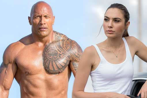 dwayne johnson gal gadot red notice